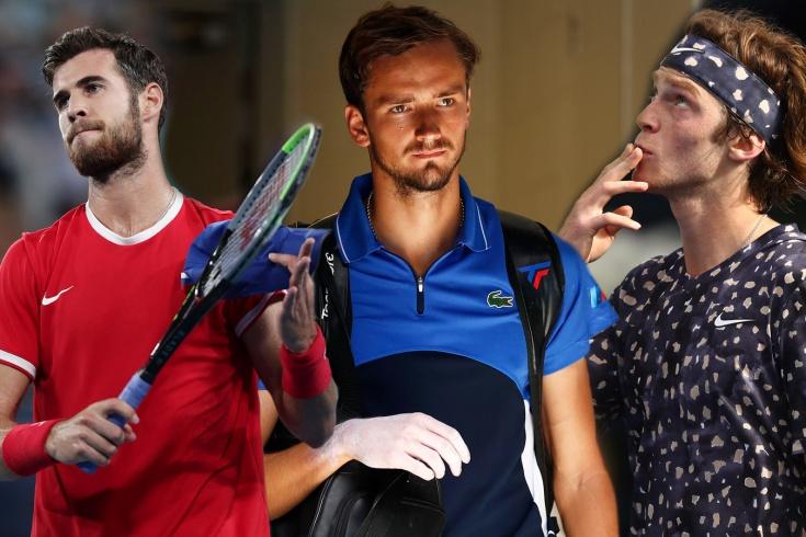 Даниил Медведев, Андрей Рублёв и Карен Хачанов установили рейтинговый рекорд