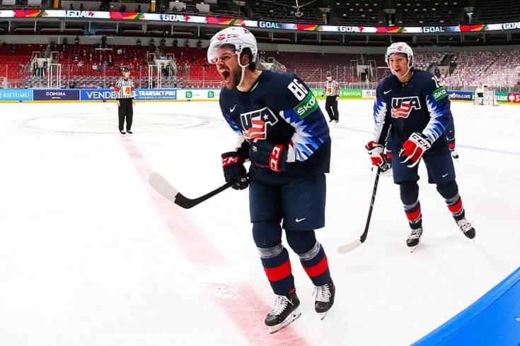 США — Германия — 6:1 — видео, голы, обзор матча за бронзу чемпионата мира по хоккею — 2021