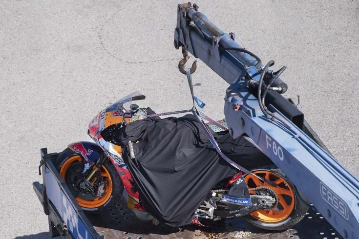 Пугающая авария Маркеса в MotoGP