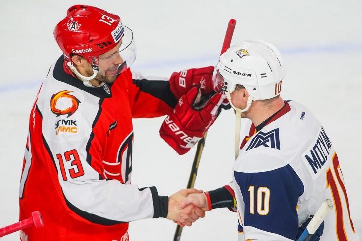 Павел Дацюк и Сергей Мозякин