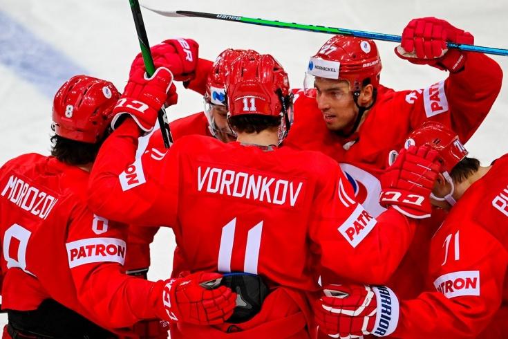 Россия — Чехия — 4:3 — видео, голы, обзор матча чемпионата мира по хоккею — 2021