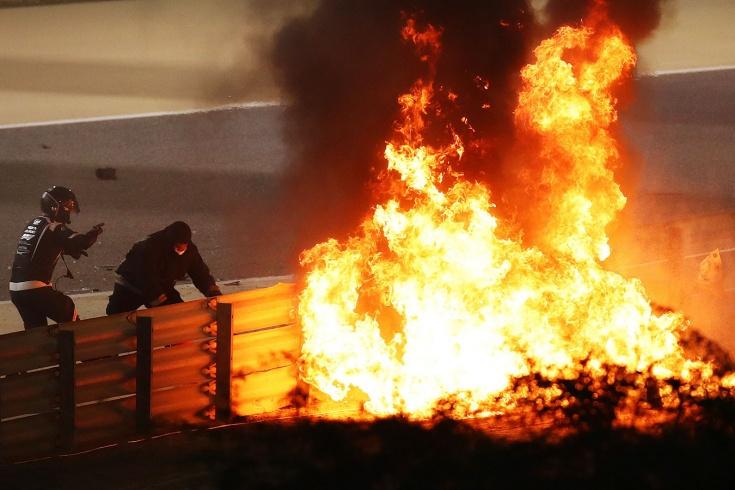Авария на Гран-при Бахрейна Ф-1: Грожану повезло