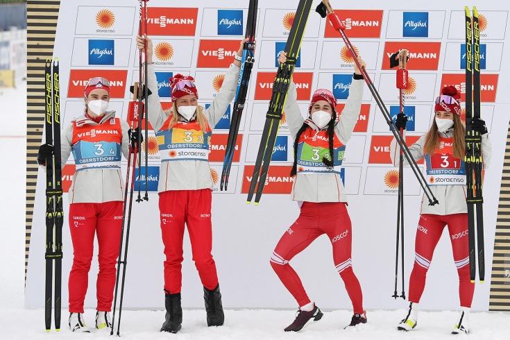Российские лыжницы завоевали серебро на ЧМ-2021