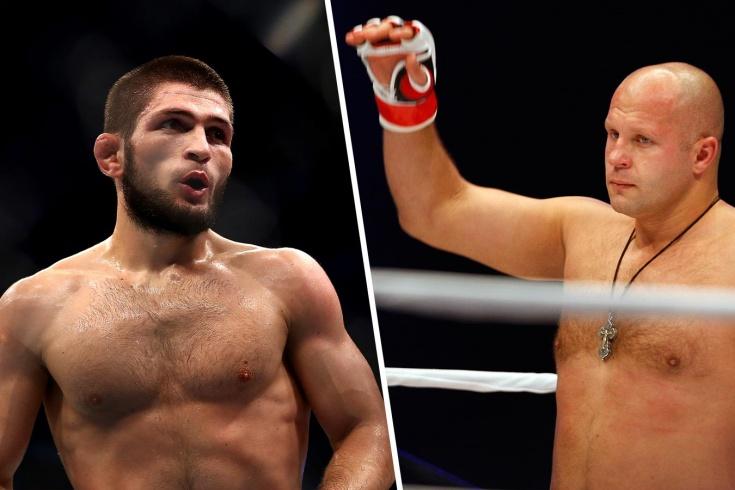 Фёдор Емельяненко оказался выше Хабиба Нурмагомедова в рейтинге лучших бойцов ММА