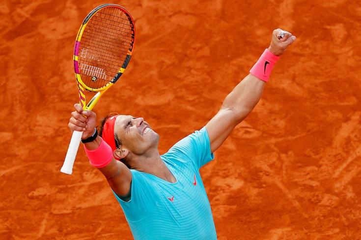 Рафаэль Надаль вышел в 13-й финал на «Ролан Гаррос». Это его 99-й победа на турнире, видео