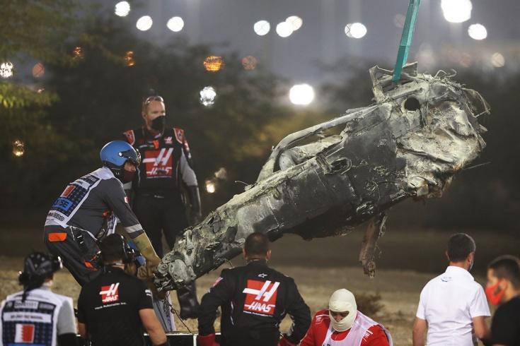 Гран-при Бахрейна: страшная авария Грожана