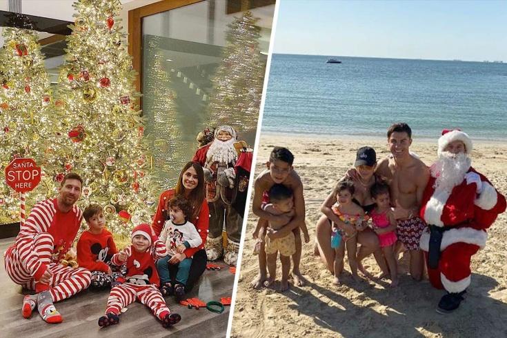 Как футболисты встретили Рождество: Месси, Роналду
