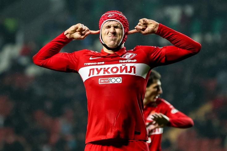 У «Спартака» три победы подряд. Красно-белый шлем помог Соболеву прервать безголевую серию