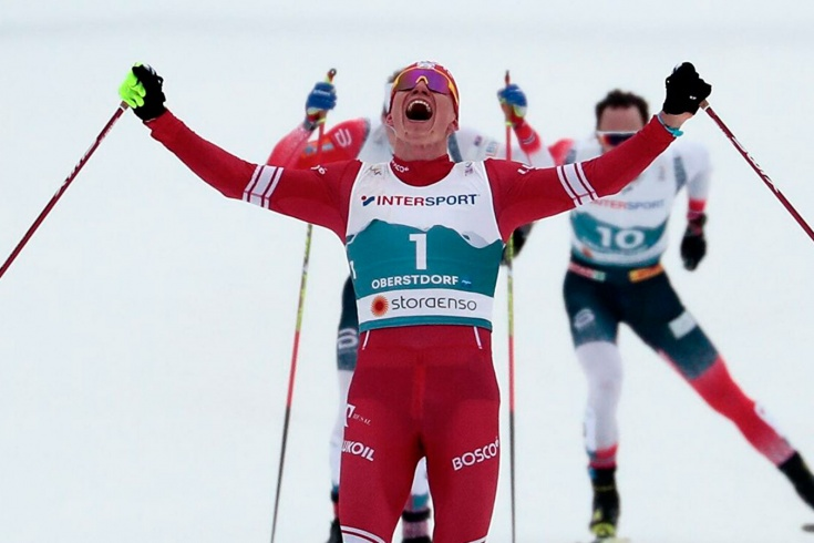 Александр Большунов, чемпионат мира по лыжам 2021
