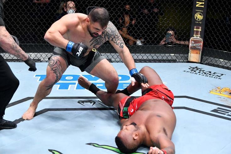 Янис Даньо нокаутировал Йоргана Де Кастро на UFC Vegas 23, видео