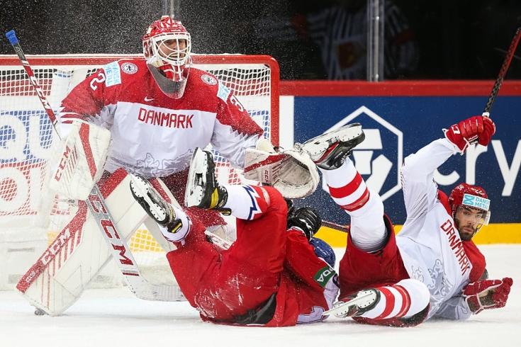 Чехия — Дания — 2:1 (Б) — видео, голы, обзор матча чемпионата мира по хоккею — 2021