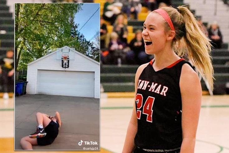 Американская школьница Карли Принти стала звездой TikTok, неудачно исполнив трик-шот