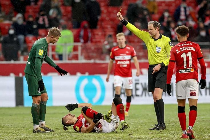 Вместо гола «Спартак» должен был получить пенальти? Разбор судейства матча с «Краснодаром»