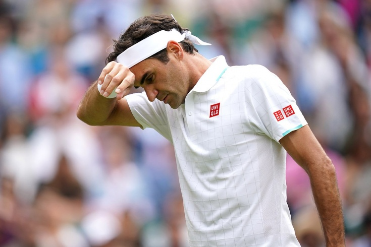 Роджер Федерер получил обидную «баранку» и не добрался до полуфинала Уимблдона