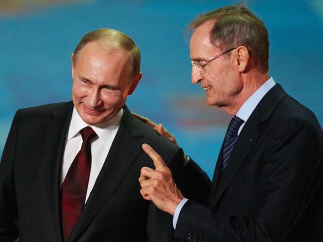 Владимир Путин и Жан-Клод Килли