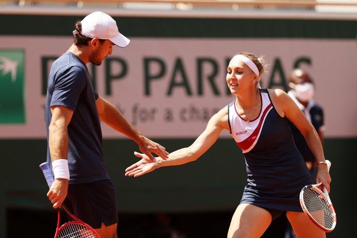 Какой же шикарный теннисный дуэт! Веснина и Карацев объединились перед Олимпиадой