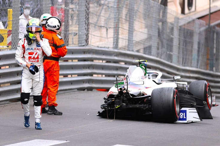 В Монако ждали парад аварий от Мазепина. А болид почти под списание разбил Шумахер!