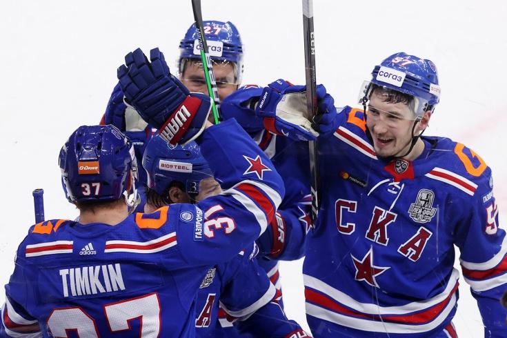 СКА – «Динамо» Москва – 4:0, второй раунд плей-офф КХЛ, сезон-2020/2021, отчёт и видео