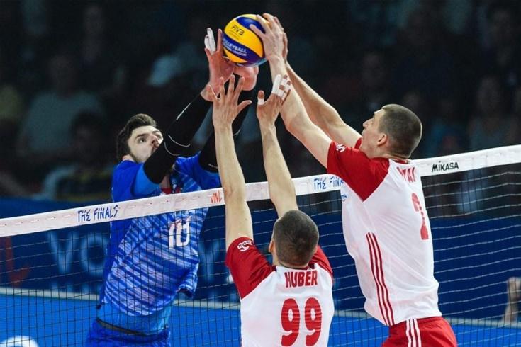 Россия победила Польшу в полуфинале Лиги наций со счётом 3:1, отчёт о матче
