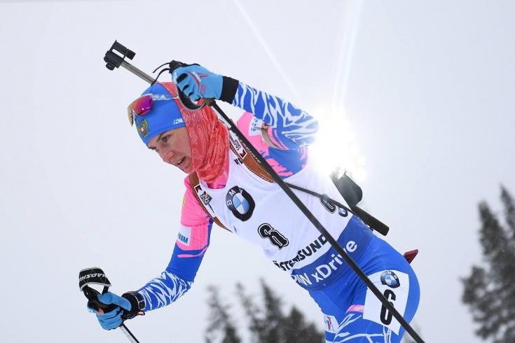 Биатлонистка Старых смогла отыграть 33 позиции в гонке преследования на Кубке мира