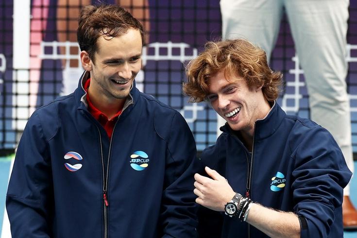 Медведев и Рублёв идут по сетке US Open навстречу друг другу. Наши парни — в 3-м круге!