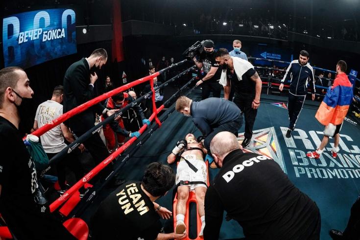 Амазарян эффектно нокаутировал Юна на турнире RCC Boxing Promotions, видео