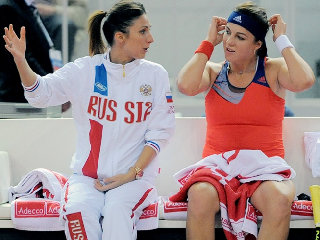Анастасия Мыскина и Анастасия Павлюченкова