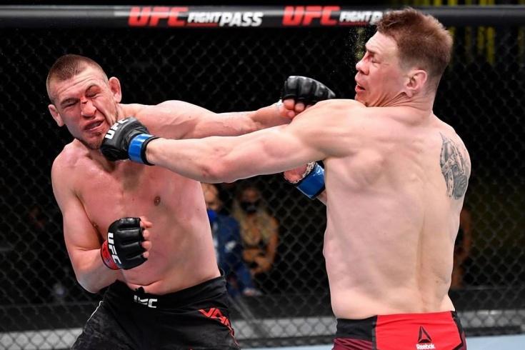 Джастин Джейкоби единогласным решением судей победил Максима Гришина на UFC Fight Night 186, видео