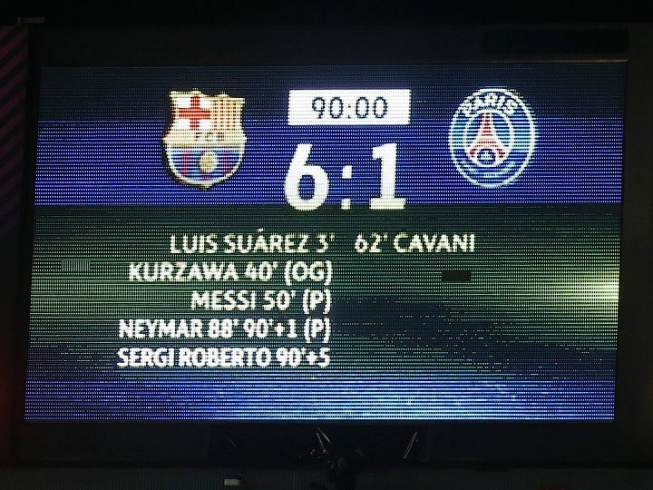 «Барселона» — «ПСЖ» — 6:1