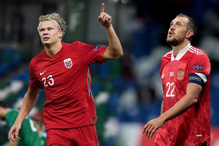 У сборной России первая ничья с октября 2018 года, у Холанда — первый хет-трик за Норвегию