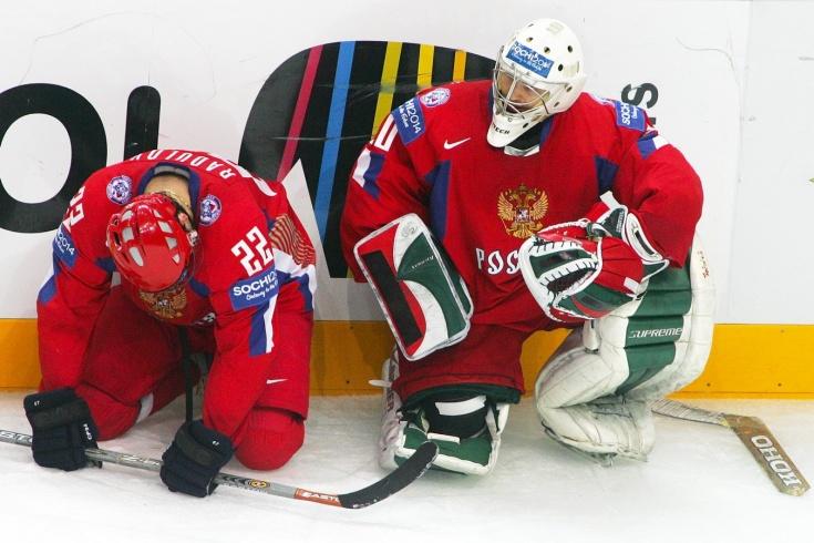 Канадский вратарь Кевин Дефосс на чемпионате мира 2008 года тренировался со сборной России