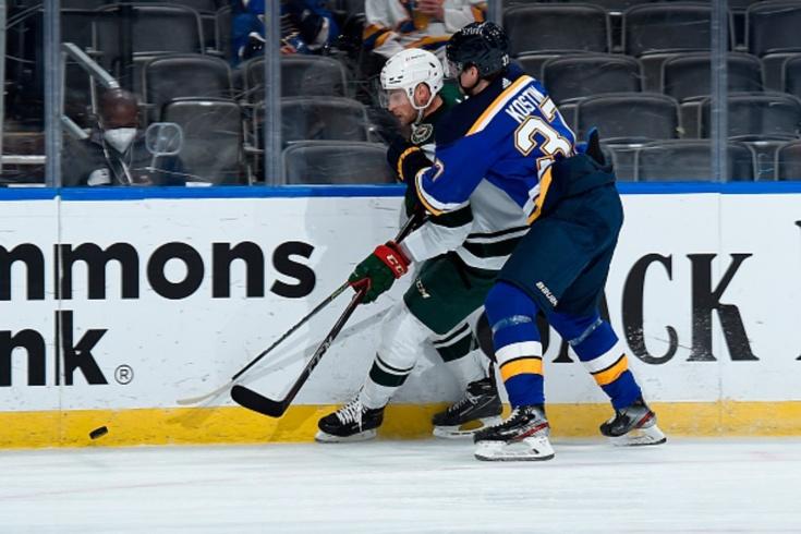 «Сент-Луис» — «Миннесота» — 4:0, видео, голы, обзор матча регулярного чемпионата НХЛ, Костин вернулся в «Сент-Луис»