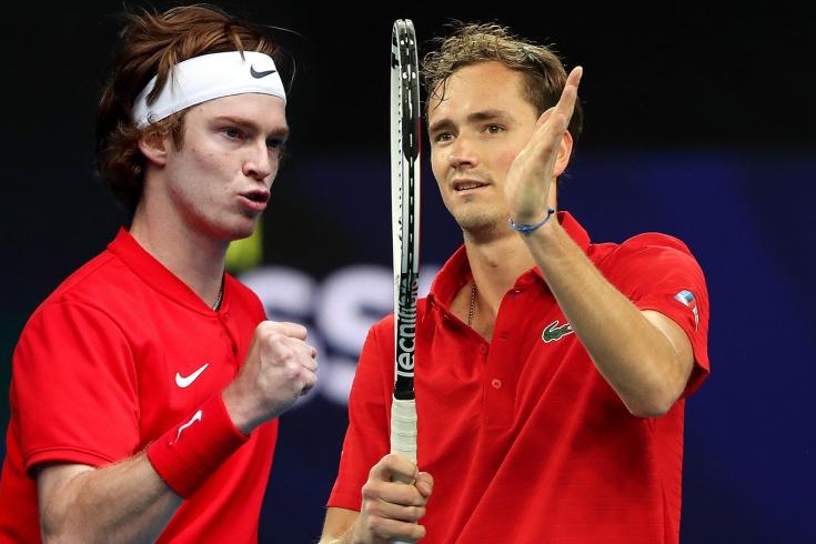 Реакция на победы Медведева и Рублёва в ATP Cup: красная машина, дуэт мечты, непобедимая Россия