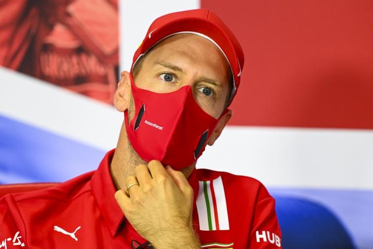 Феттель ругается на «Феррари» на Гран-при 70-летия Формулы-1