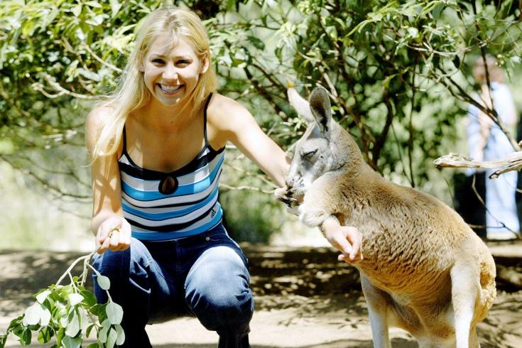 Анна Курникова с кенгуру