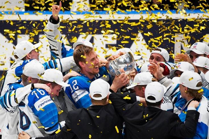 Как сборная Финляндии праздновала победу на ЧМ