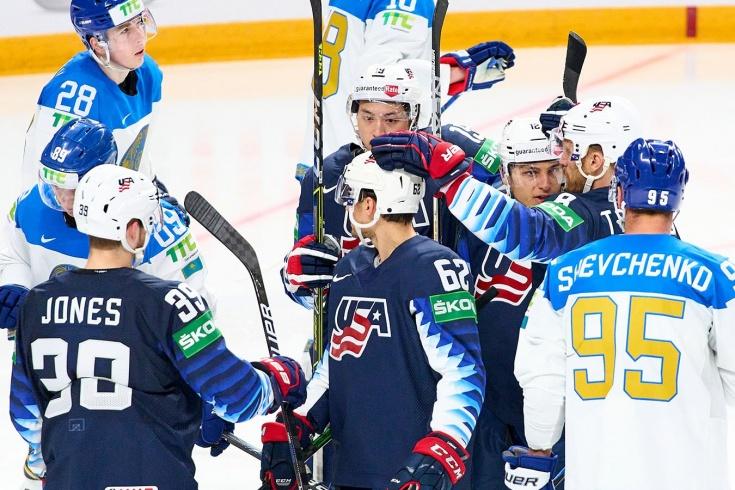США — Казахстан — 3:0, видео, голы, обзор матча чемпионата мира 2021 года по хоккею