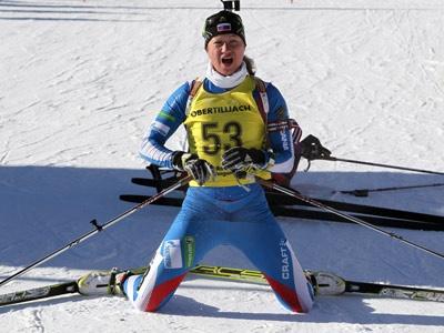Ольга Подчуфарова выиграла гонку преследования