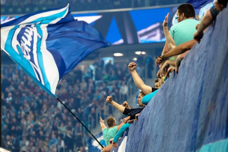 Фанаты «Зенита» покинут стадион на 40-й минуте мат