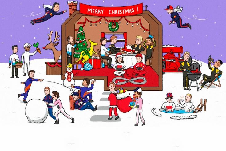 Как празднуют Рождество пилоты и команды Формулы-1