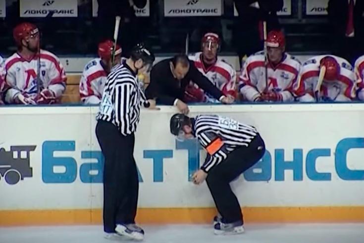 Как судья Цыплаков получил тяжёлую травму в столкновении с игроком