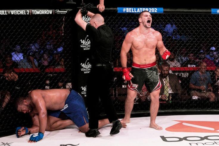 Bellator 261: Валентин Молдавский – Тимоти Джонсон, бой за временный пояс в тяжёлом дивизионе, видео