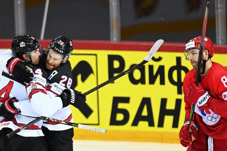 Видео победного гола Канады в матче с Россией