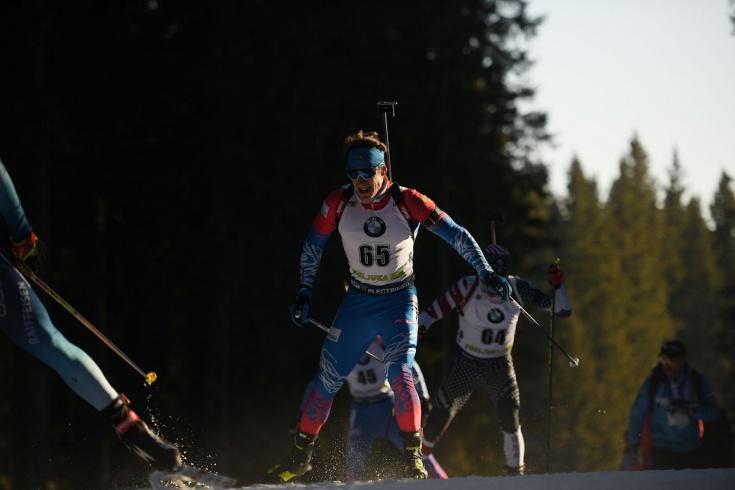 Молодые биатлонисты едва не принесли России медаль в мужской эстафете на Кубке мира