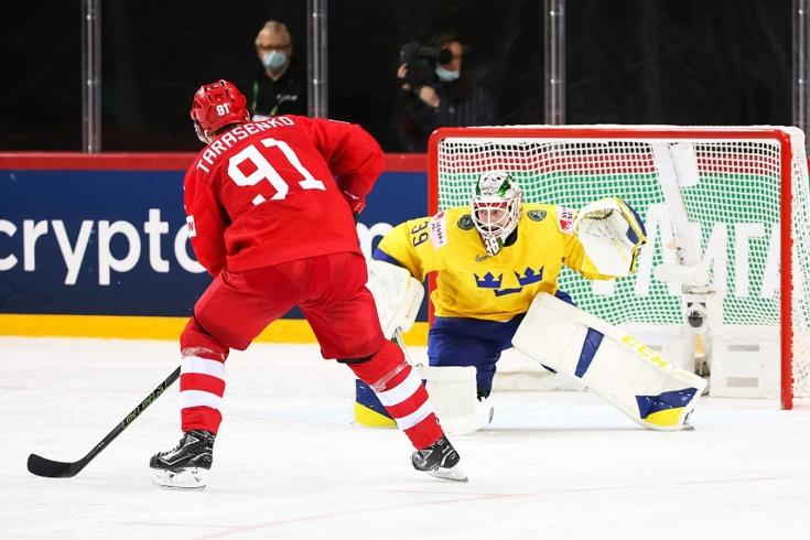 Видео победного буллита Тарасенко в матче Россия – Швеция на чемпионате мира – 2021