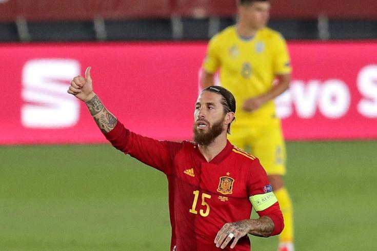 Рамос догнал Ди Стефано по голам за сборную на стадионе его имени. Испания разбила Украину