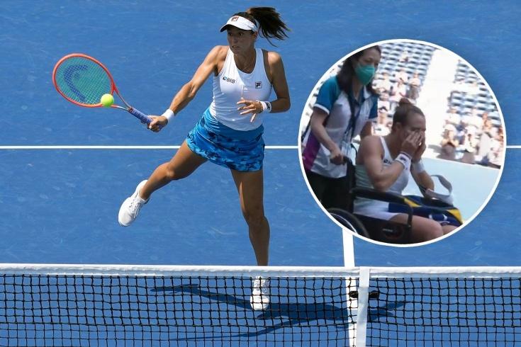 US Open — 2021, бронзовый призёр Олимпийских игр Луиза Стефани получила травму и покинула корт в инвалидной коляске