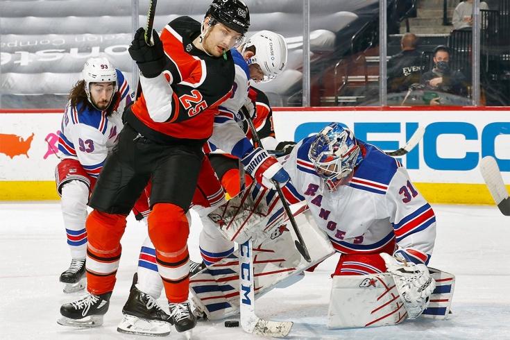 «Филадельфия» – «Рейнджерс» –2:1, видео, голы, обзор матча регулярного чемпионата НХЛ