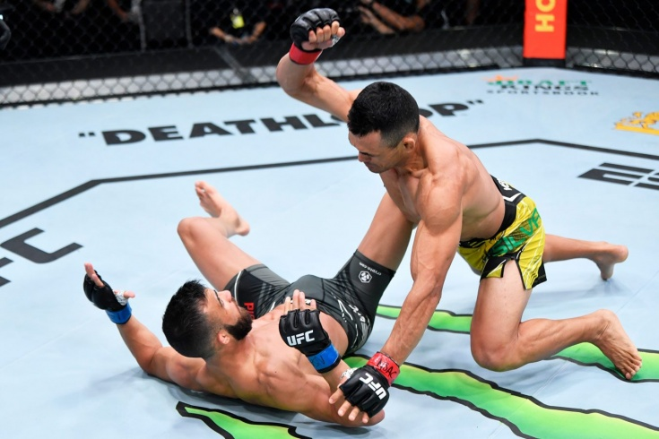 UFC Вегас 38: Дуглас Силва де Андраде нокаутировал Гаэтано Пиррелло в первом раунде. Видео