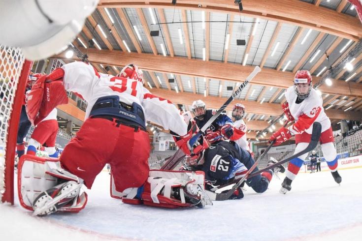 Россия проиграла США на женском чемпионате мира по хоккею 2021 года, обзор матча, рекорд Хилари Найт
